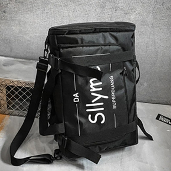Stylish Backpack with Skateboard Fix Strap, Three Ways to Wear & Large Capacity, for Camping, Outdoor & More
