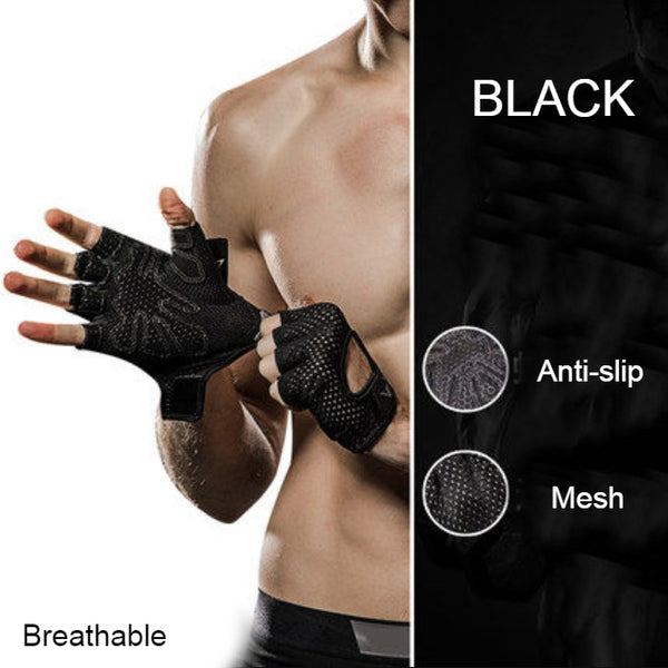 Half-finger Breathable Workout Gloves, for Weight Lifting, Gym, CrossFit, Women and Men