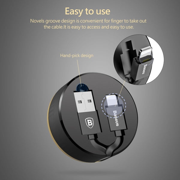The Most Amazing & Convenient Retractable Lightning Charge & Sync Cable