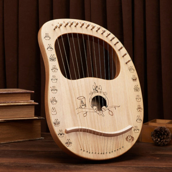 Classy 16-String Lyre Harp with Metal Strings, Tuning Wrench, Spared Strings, Manual and Bag, for Beginners and Professionals