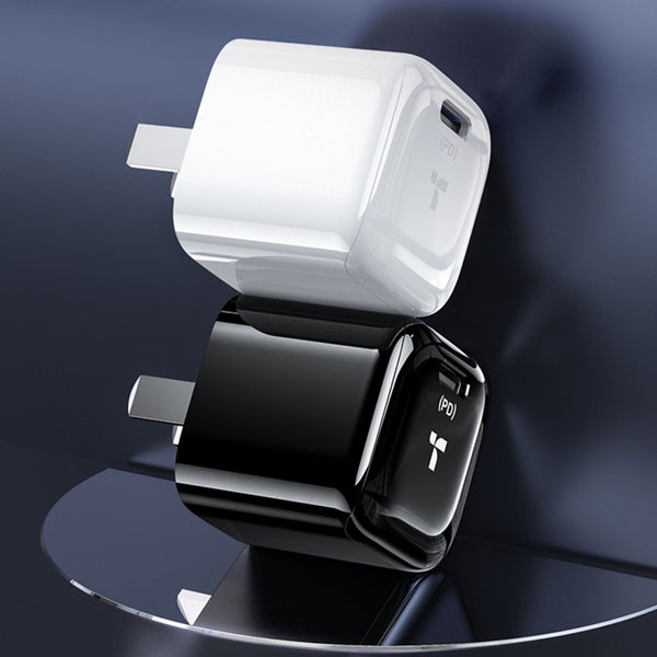 Portable USB-C PD Wall Charger, with Fast Charging Chip, for Phone, Tablet, Earphones & More