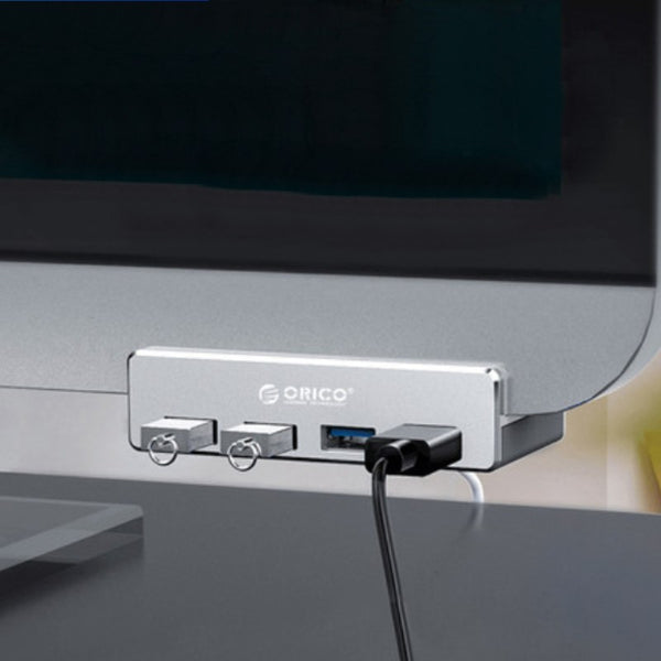 Creative Back Clip Snap-on USB3.0 Hub, with 4 USB Ports & Easy- to-fix Design, for Ultimate Convenience in Home & Office