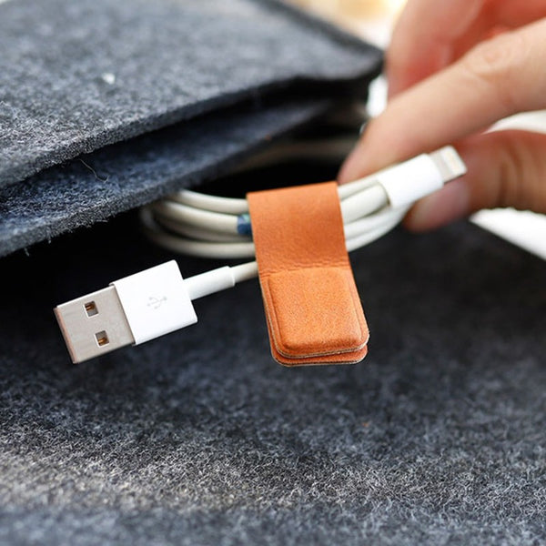 Versatile Magnetic Cable Organizer Strap, for Cables, Earphones & More (2PCS)