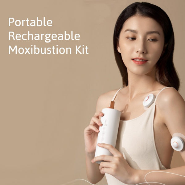 Portable Moxibustion Kit, with Intelligent Temperature Control, Far Infrared Heating, Safe and Smoke-free, for Neck, Back, Waist & More