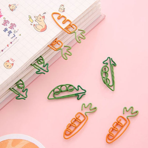 Carrot Shape Paper Clips, for Home, Office, School & More (20pcs)