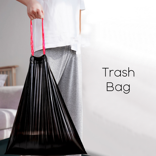 Unscented Ultra Strong Drawstring Trash Bags, for Kitchen, Bathroom, Office & More