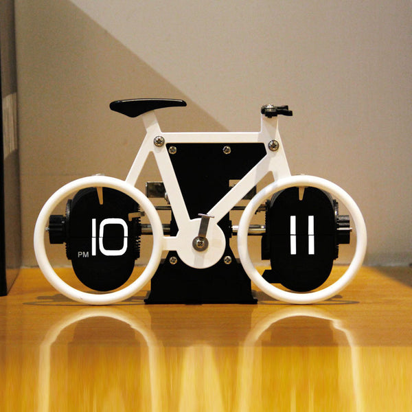 Retro Style Bicycle Shaped Flip Down Clock, for Home & Office