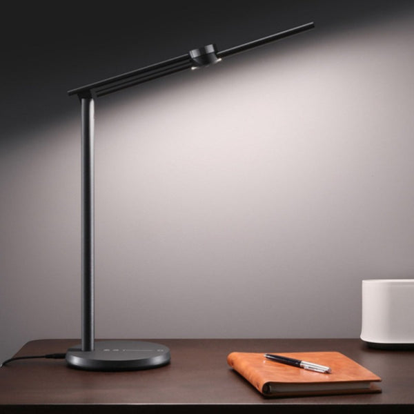 Intelligent Desk Lamp, with Stepless Brightness & Warmth Adjustment, Infrared RIP Sensor, Adjustable Arm, for Office, Study & More (US Plug)