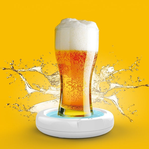 Portable Electric Ultrasonic Beer Foamer, Create Fine and Uniform Foam, for Anniversary, Parties, Bars & More