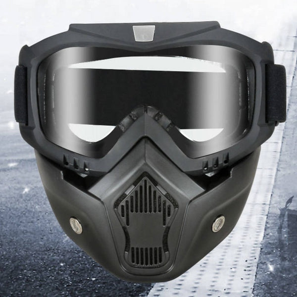 2-in-1 Goggle and Face Shield, with Anti-fog, Anti-dust, Anti-splash, Detachable Design & Clear Lens, for Riding, Climbing & More