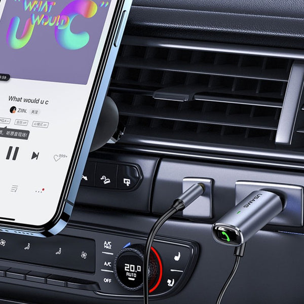 Car Bluetooth 5.0 Adapter, with3.5mm Aux Jack, for Music Streaming & Hands-free Calling