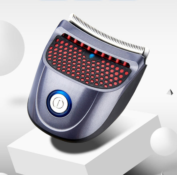 Rechargeable Palm-held Wireless Electric Hair Clipper, with Stainless Steel Blade, Washable Design, Multiple Length Control Comb and USB Charging Cable, for Family Use