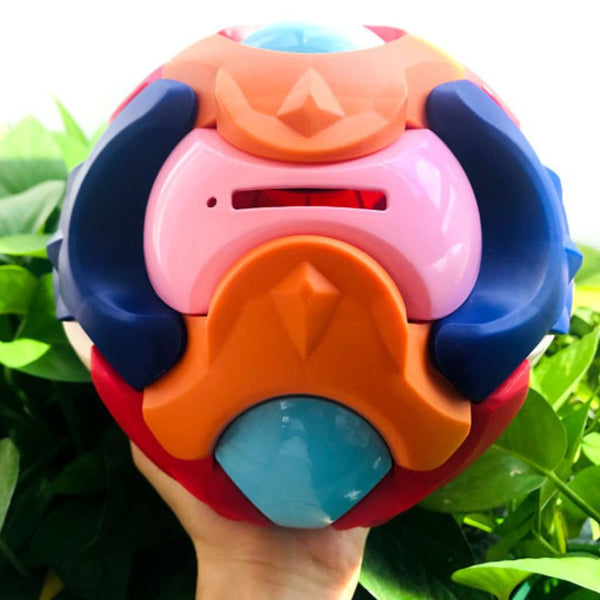 2-in-1 DIY 3D Jigsaw Toy Puzzle Assembled Ball & Piggy Bank, for Early Education