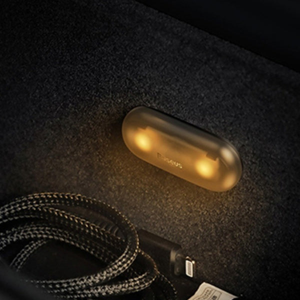Mini Car Interior Lights, with One-touch Control, Easy Installation, Soft Light & Energy-saving Design, for Car, Drawer, Closet & More (2 Pack)