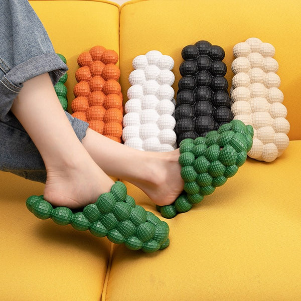 Cute & Comfortable Bubble Slippers, with Ultra-soft Sole, Breathable Design & Curved Toe, for Indoor & Outdoor (1 Pair)