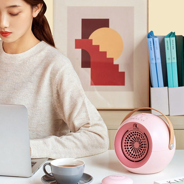 Portable Desktop 3-in-1 Heater, Hand Warmer & Humidifier, with Adjustable Wind, Fine Spray & Multiple Safety Protection, for Home & Office