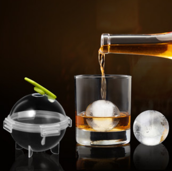 Ice Ball Mold Set, with 5cm Diameter Mold, for Craft Cocktails and Delicious Whiskey (4 pcs Set)