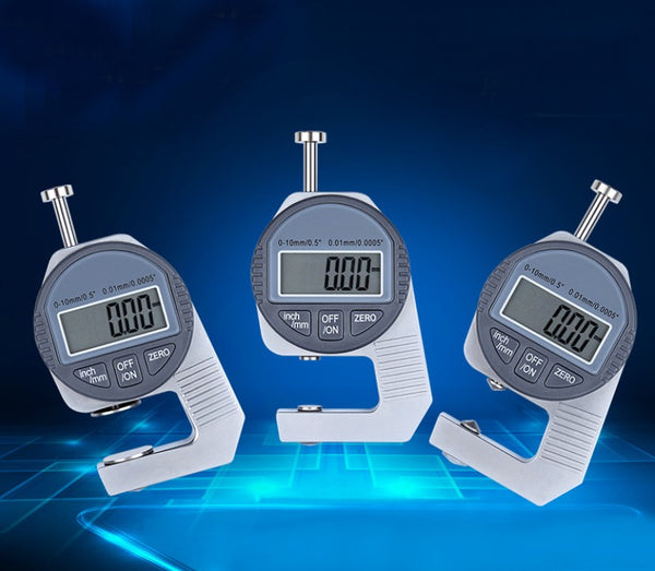 Portable Electronic Digital Dial Thickness Gauge (0~12.7mm), with Precise LCD Display, Available in Three Probes