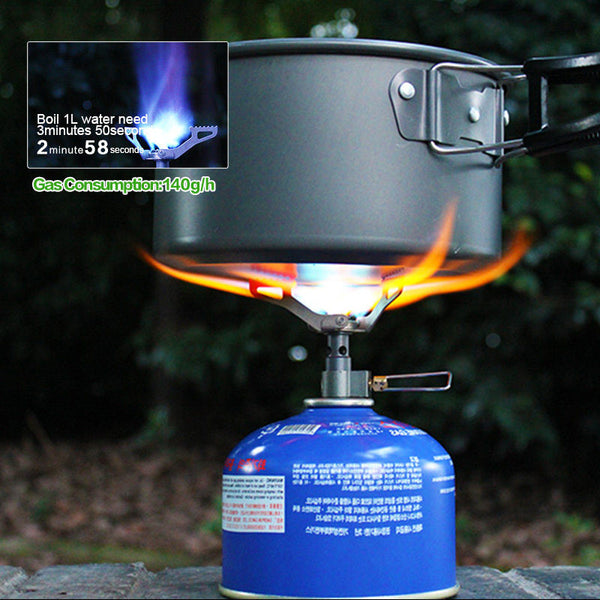 Foldable Portable Titanium Alloy  Mini Camping Furnace Stove, for Outdoor Cooking & Picnic