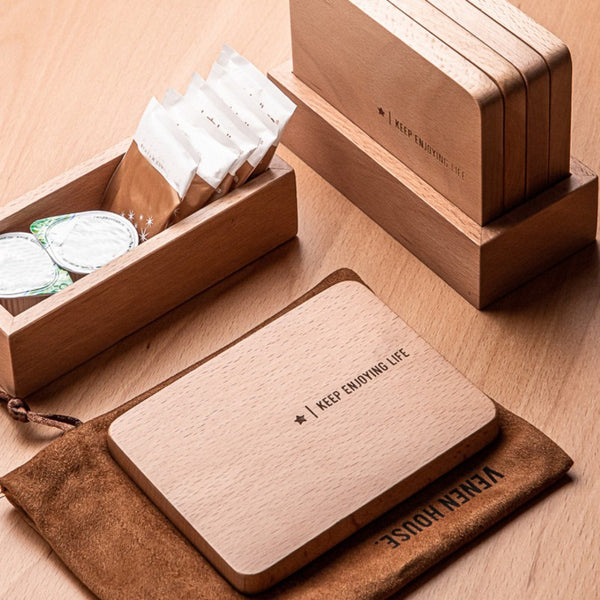 Wooden Square Cup Coaster, for Cold Drinks and Hot Beverage