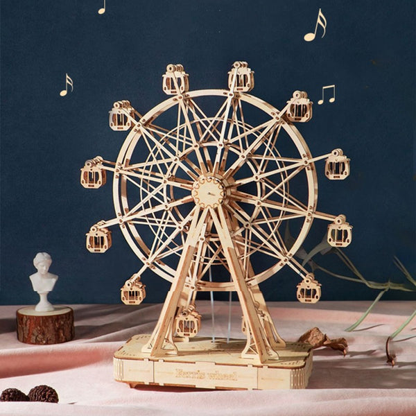 3D DIY Music Wooden Puzzle Sky Wheel, for Adults and Teens