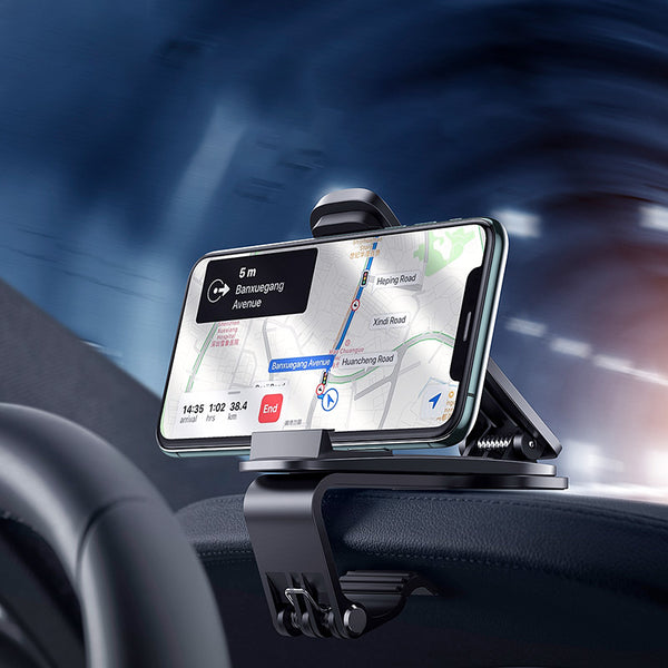 "Dashboard Car Phone Holder, with Adjustable Clip & 360-Degree Rotating Design, Suitable for 4.7"" ~ 6.5"" Smartphones"
