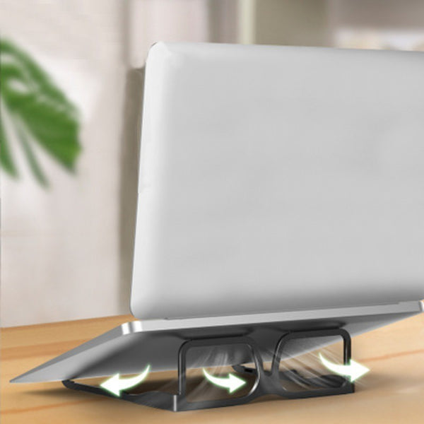 Foldable Aluminum Alloy Glasses Style Laptop Stand, for Laptop, Tablet and Book