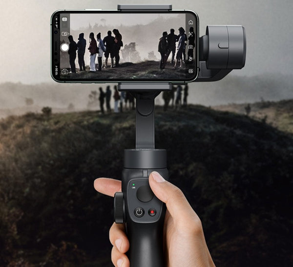 Handheld Bluetooth Selfie Stick with Three-axis Stabilization, Automatic Motion Tracking, Panoramic and Multi-angle Shooting
