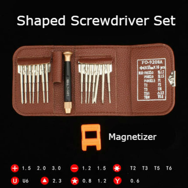 25-in-1 Precision Professional Screwdriver Set, Electronics Repair Tool Kit with 24 Bits & Magnetic Driver, Magnetizer, for iPhone, Tablet, MacBook & PC