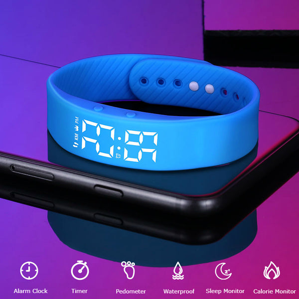 6-in-1 Multi-function Waterproof LED Smart Sports Watch With Vibrating Alarm Clock, Calorie Calculation, Pedometer, Sleep Monitoring & More