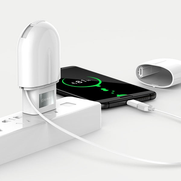 The Total Package - Fast Charger with 3-in-1 Cable