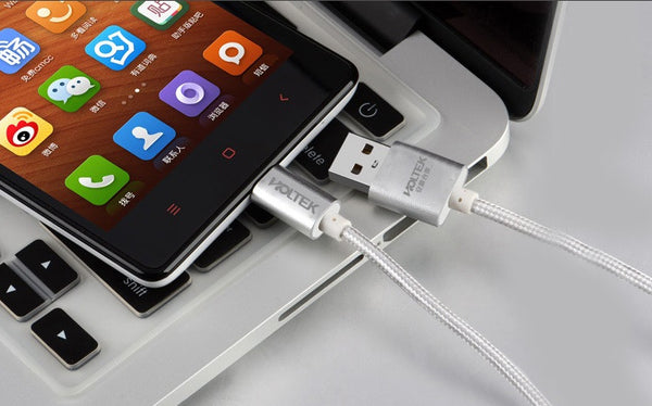 The World's First Double-Sided Reversible Micro USB Charging Cable