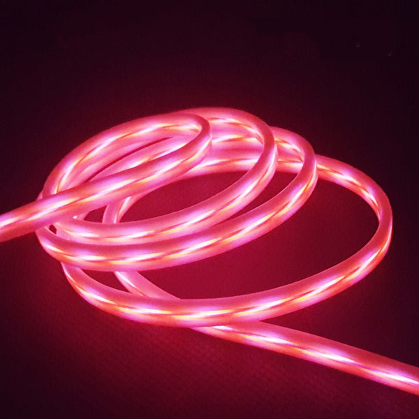 1 Meter Light Pulse Electroluminescent Charge & Sync Cables