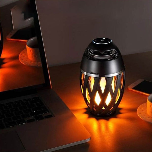 Rechargeable LED Flame Lamp Bluetooth Speaker, Best Gift for New Year, Valentine's Day, Wedding & More