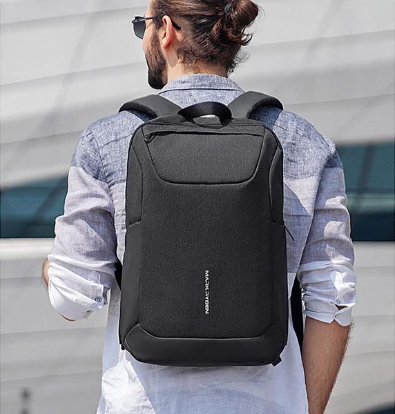Waterproof Large-Capacity Backpack, with USB Charging Port, Smooth Zipper, Independent Laptop Compartment, Partition Storage and Anti-theft Pocket, for Work, School, Trip and More