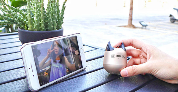 Little Monster Bluetooth Speaker to Take Stunning Pictures for You o(`▽′)ψ