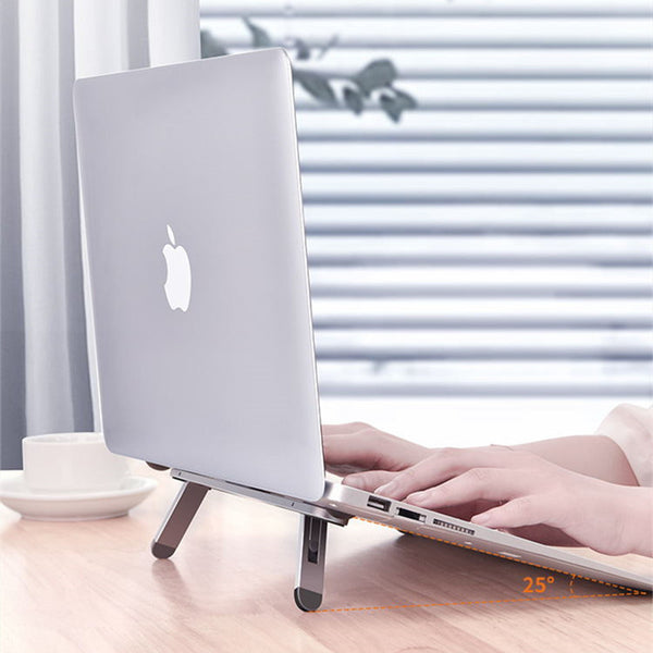 Portable Aluminum Laptop Stand, with Adjustable & Ergonomic Design, for Home, Office, Study & More