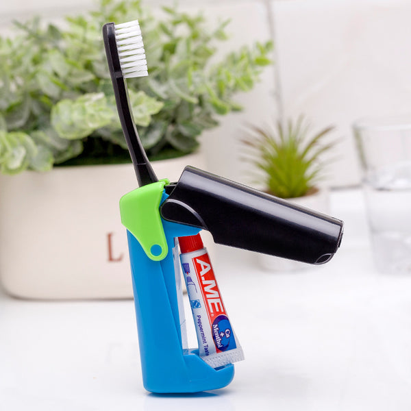 2-in-1 Travel Toothbrush & Toothpaste for People on the Go