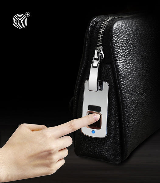 Leather Clutch Opens Only with Your Fingerprint
