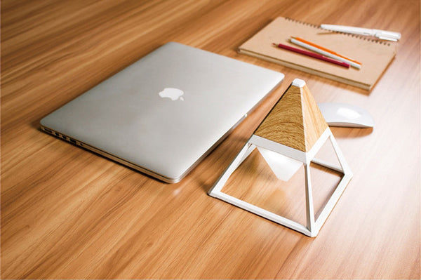 Pyramid-inspired USB Table Lamp to Enhance Your Interior - When Modern Convenience Meets Retro Chic