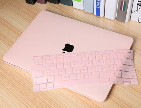 Ultra-Thin Silicone Keyboard Protector and Case Set for MacBook, with Perfect Fit and High Transparency, Available in Various Models