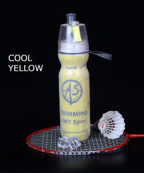 Spray Mist Water Bottle For Outdoor Sport Hydration & Cooling Down