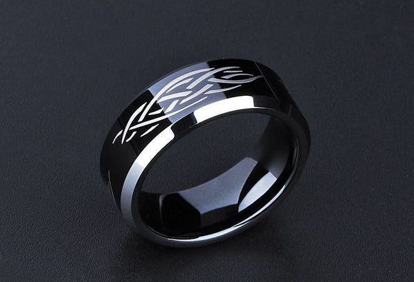 Make a Bold Statement with Black Tungsten Ring