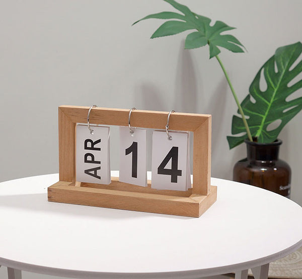 Keep Time & Luck on Your Side with Perpetual Wood Calendar
