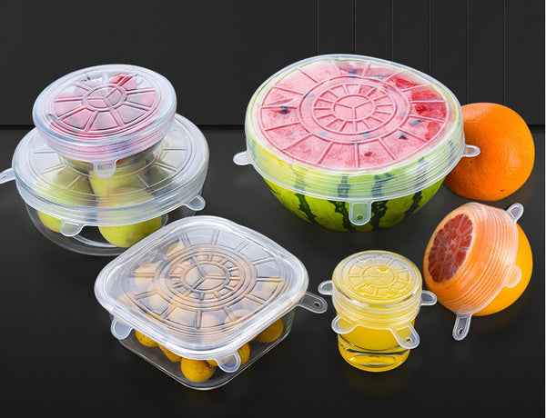 Seal Tight, Fit Well and Stretch Easily - Reusable Food Grade Silicone Lids