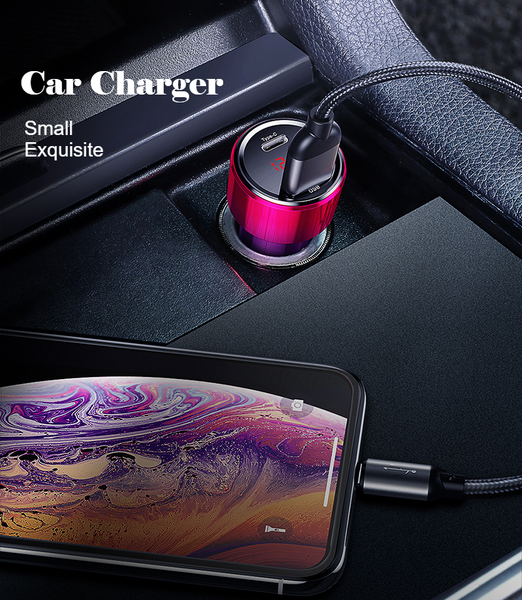 Coolest 45W QC3.0 Car Charger with LED Display
