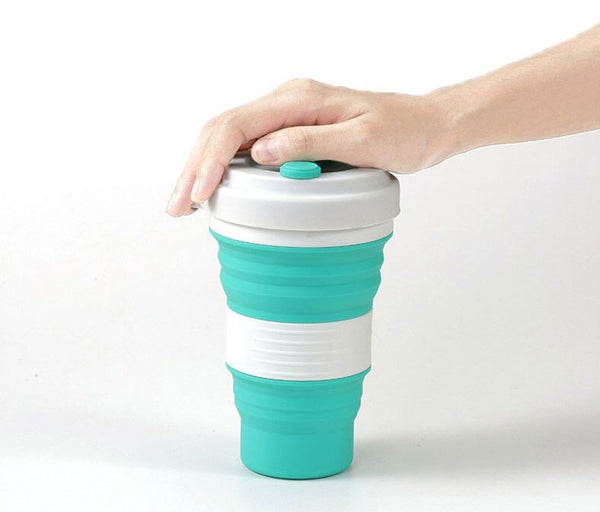 Take Hydratation on the Go with Ultra Collapsible Travel Cup