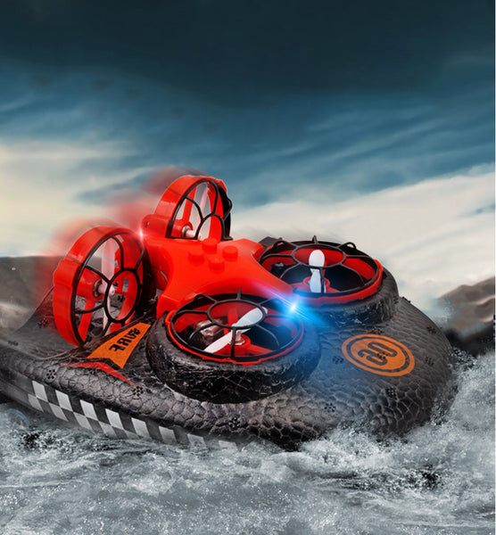 Water, Land & Air 3-in-1 Deformation Drone Hovercraft, Rechargeable, Adjustable Speed, Tumbling, The Best Christmas Gift for Children