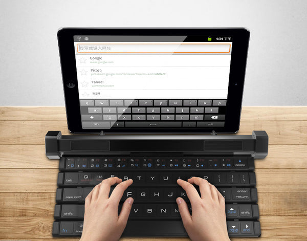 Foldable & Detachable Cross-device Bluetooth Keyboard & Speaker