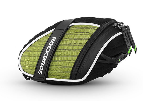 Water Resistant and Mudproof Bicycle Saddle Bag, with Reflective Strip and Fixing Strap, Compatible for Most Bikes